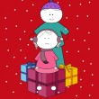 Holiday love and caring — Imagen vectorial