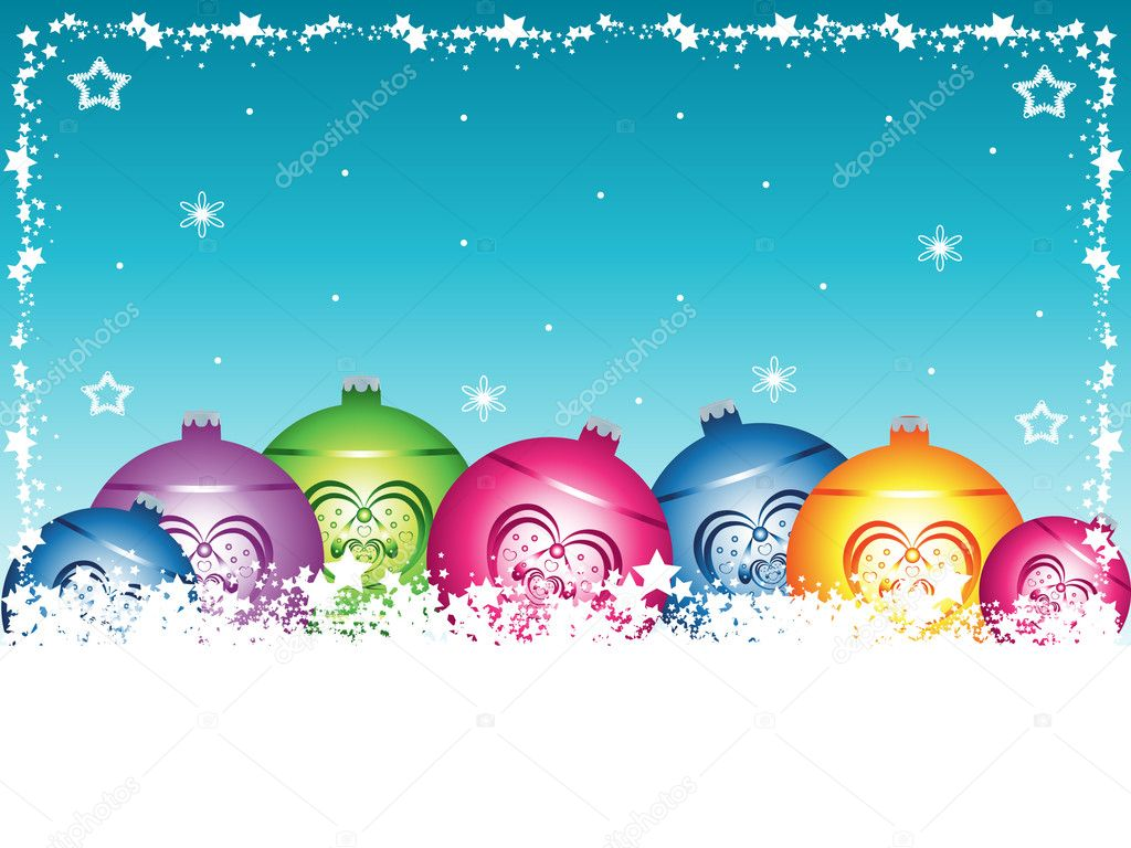 Christmas background with christmas balls. Vector illustration. — Stock Vector #2069657