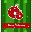 Christmas card with christmas balls - Stock Vector