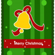 Christmas card with christmas bell — Stock Vector