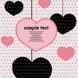 Dotted valentine background — Vettoriali Stock