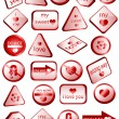 Royalty-Free Stock Vector Image: Love signs - 3D