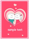 Couple card — Stock Vector