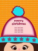 Cartão de natal engraçado — Vetor de Stock