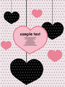 Dotted valentine background — Stock Vector