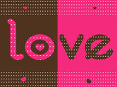 Love dotted background — Stock Vector