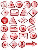 Láska známky - 3d — Stock vektor