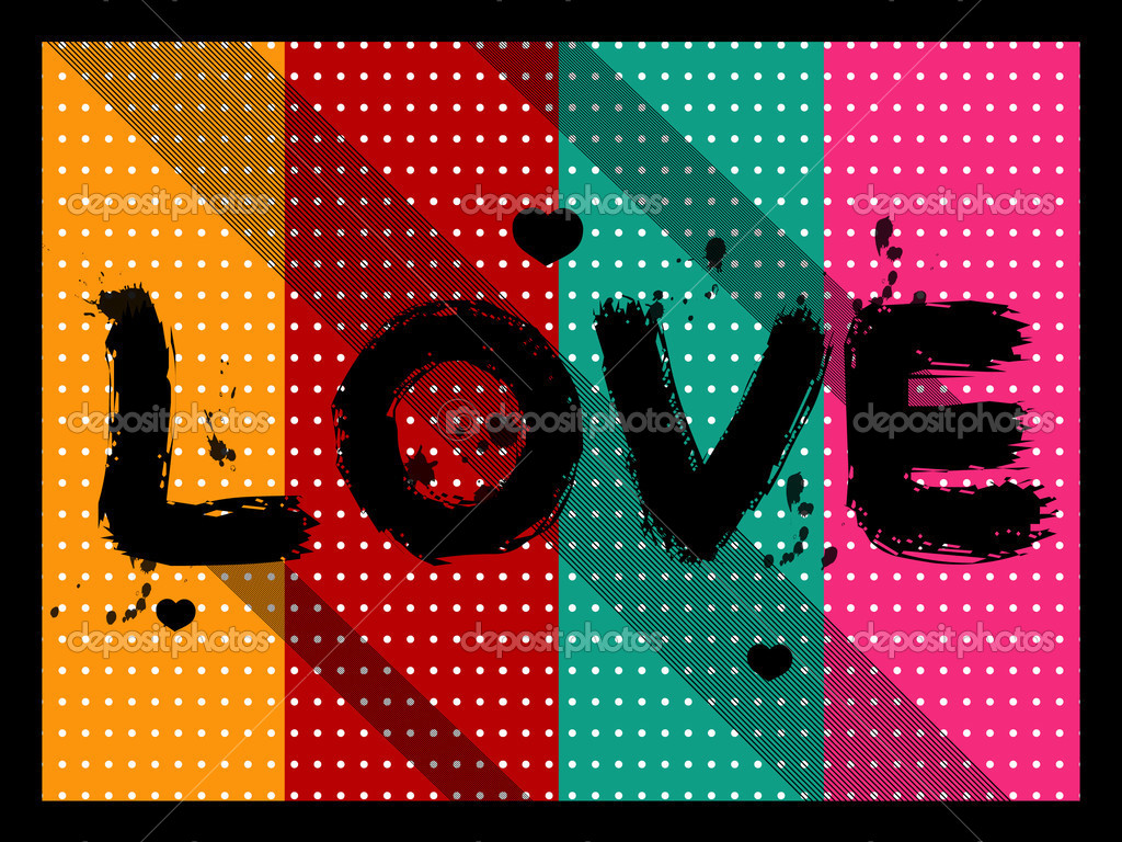 Vector illustration of abstract love background  Image vectorielle #2071684