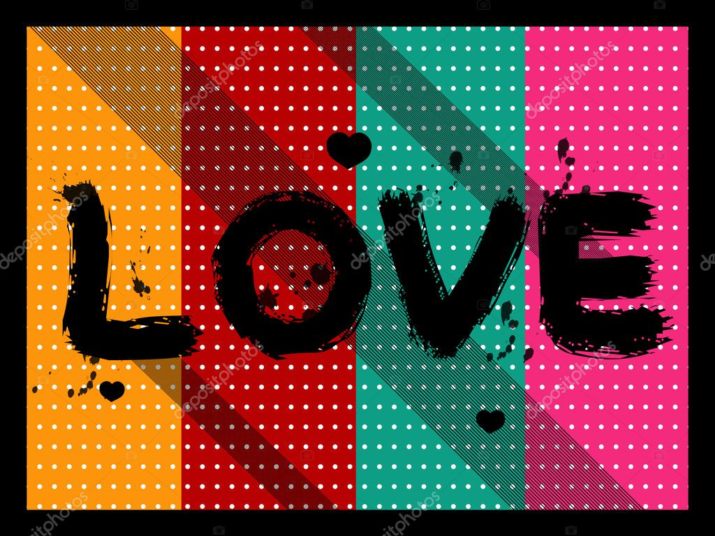 Vector illustration of abstract love background — Imagen vectorial #2071684