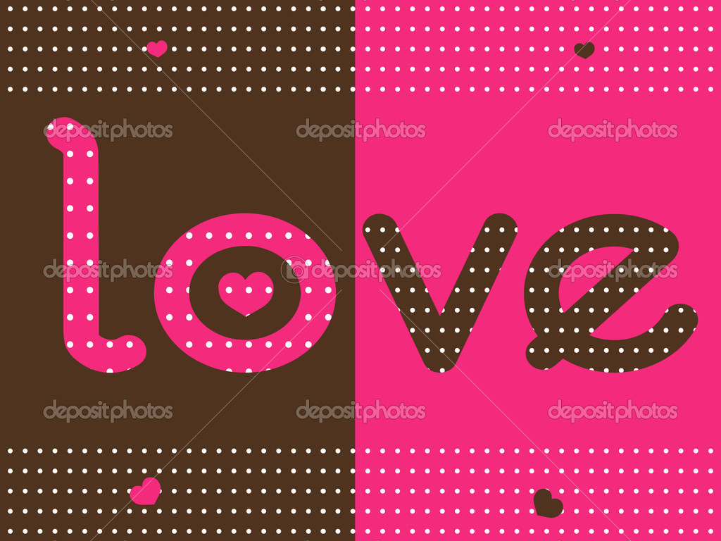Vector illustration of love dotted background  Vettoriali Stock  #2072149