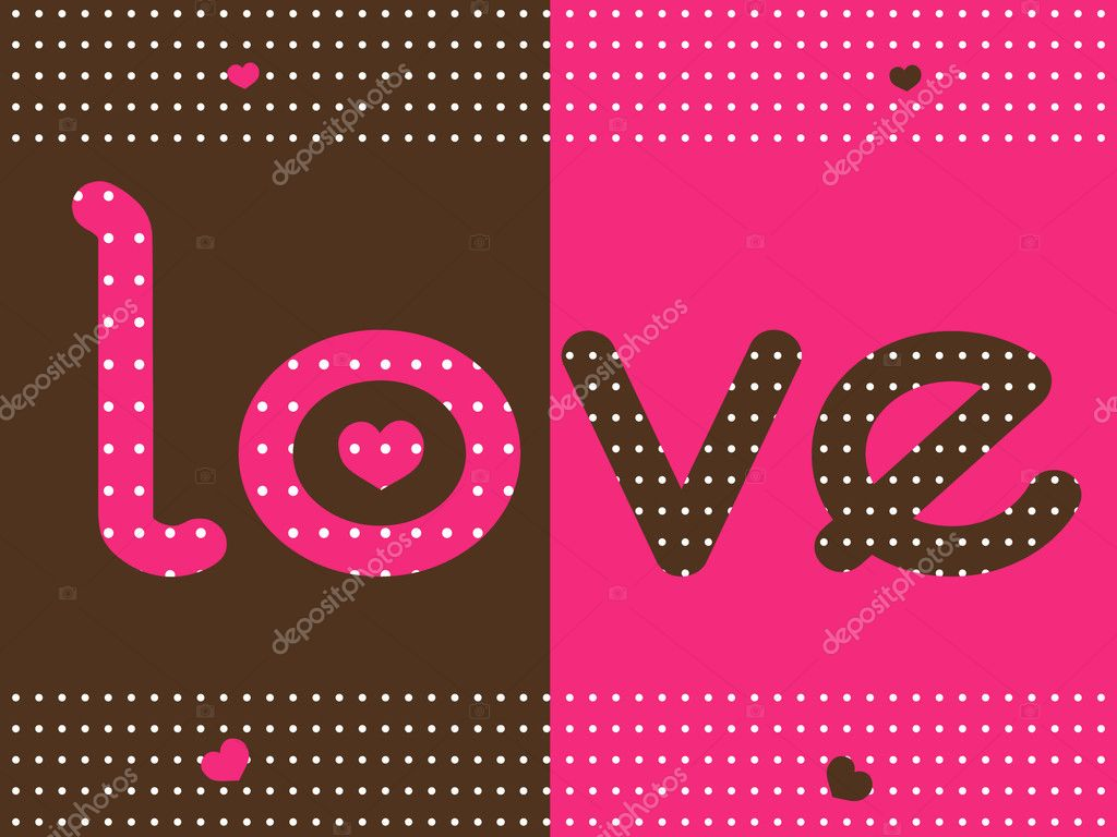 Vector illustration of love dotted background — Stock vektor #2072149
