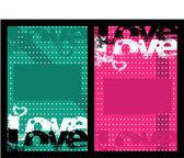 Grunge love background — Stock Vector