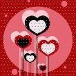 Royalty-Free Stock Imagen vectorial: Dotted love background