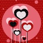 miłość kropkowanym tle — Wektor stockowy