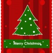 Royalty-Free Stock Vector: Christmas card with christmas tree