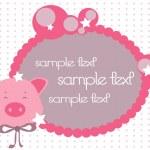 Piggy card — Stock Vector