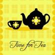Time for Tea design — Stock Vector