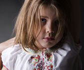Sad little girl — Stock Photo