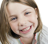 A pretty cute blonde five year old girl — Stock Photo