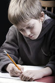 Young child studying — Stock Photo