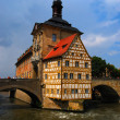 Town hall and Regnitz river, Bamberg — Stock Photo #2025505