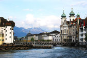 View of Lucerne old town, Switzerland — Stock Photo
