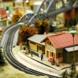 Toy railway — Stock Photo