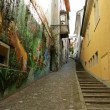 Small alley with painted wall. Zurich — Stock Photo #2069123