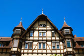 Traditional medieval german house — Stock Photo