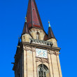 Clock tower of Radolfzell church — Stock Photo