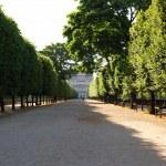 camino al louvre, París — Foto de Stock