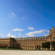 Louvre museum exterior — Stock Photo