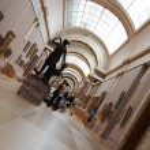 Louvre museum interior — Stock Photo