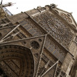 Notre Dame Cathedral front view — Stock Photo