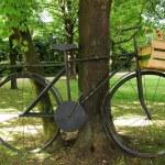 Oversized retro bike — Stock Photo