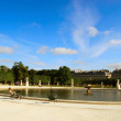 Sky fountain in Louvre park — Stock Photo