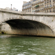 Bridge over Seine close-up - Stock Photo