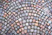 Cobblestone pavement texture — Stock Photo