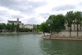 Seine and De La cite island — Stock Photo