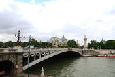 Alexander's bridge over Seine — Stok fotoğraf
