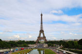Eiffel Tower and Paris — Stock Photo