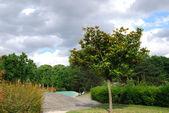 View of Saint Denis park — Stock Photo