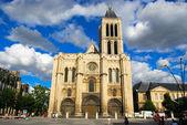 Basilica Saint Denis and Saint Denis mai — Stock Photo