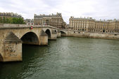 Medieval bridge over Seine — Stock Photo