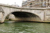 Bridge over Seine close-up — Stock fotografie