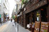 Street of Latin Quarter in Paris — Stock Photo