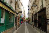 Street of Latin Quarter (Quartier latin) — Stock Photo
