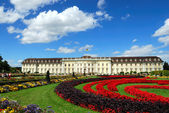 Royal palace and palace garden — Stock Photo
