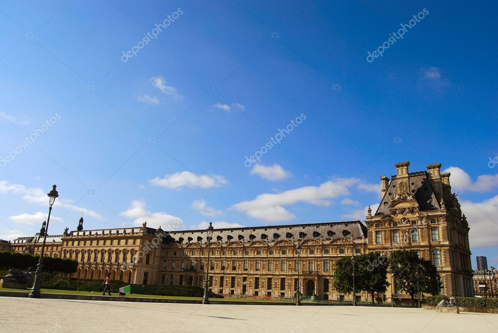 Louvre museum exterior, Paris, France  Stock Photo #2072599