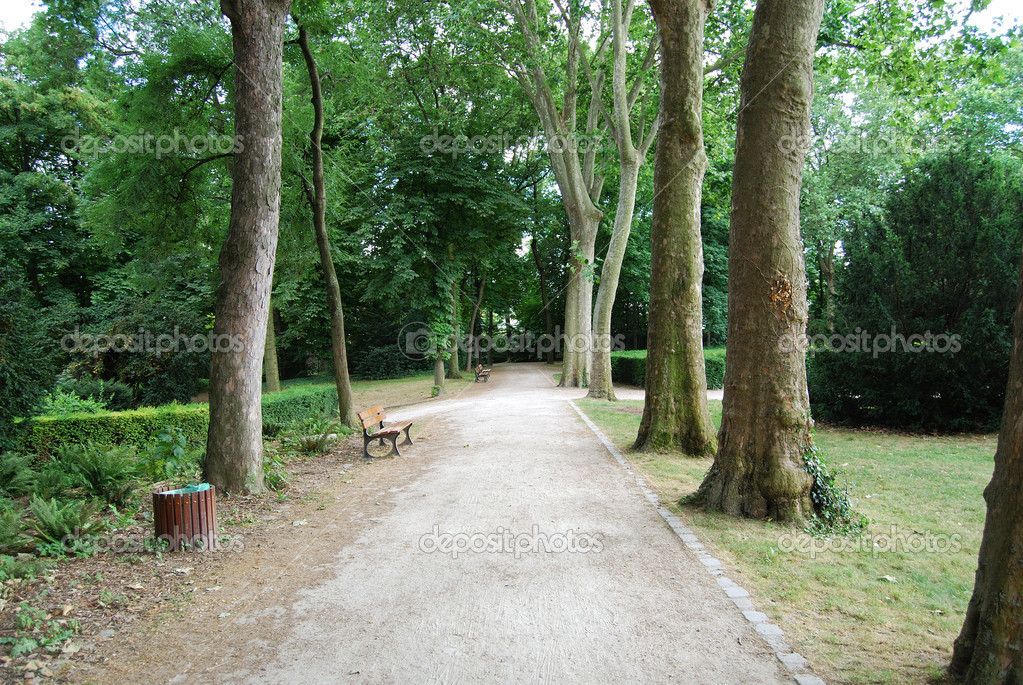 Empty footpath in Saint Denis park, Paris, France — Stock Photo #2073324
